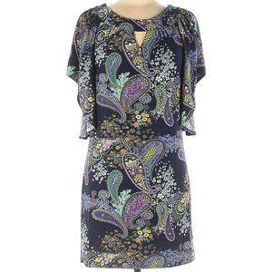 Alyn Paige NY Paisley Butterfly Sleeve Dress SZ S